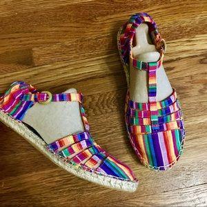 NEW Rocketdog rainbow espadrilles shoes 10